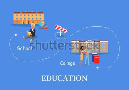 Educación proceso kindergarten escuela dos ninos Foto stock © robuart