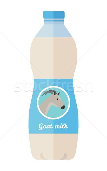 üveg kecske tej stílus tejtermék vektor Stock fotó © robuart