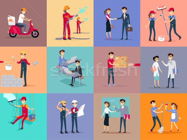 Labor Day Different Professions Set Stock photo © robuart