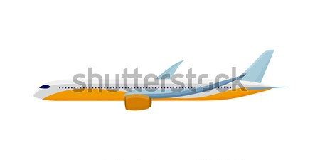 Airplane Isolated on White. Air Travel Concept Stock photo © robuart