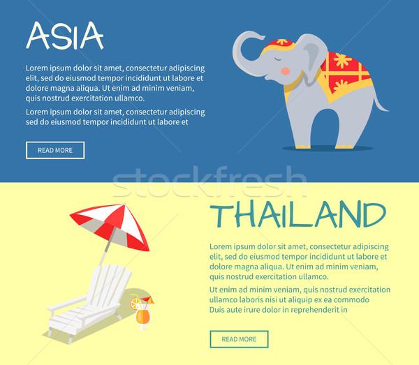 Asie Thaïlande vecteur web bannières Photo stock © robuart