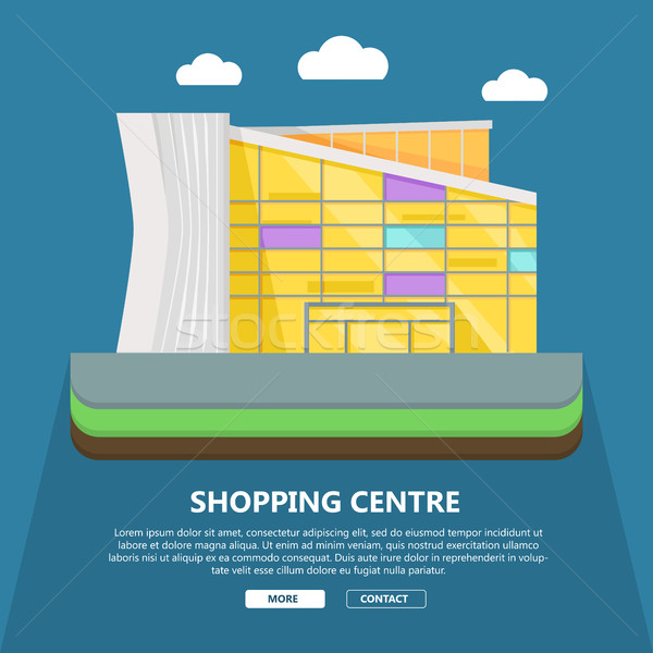 Shopping Centre Web Template in Flat Design. Stock photo © robuart