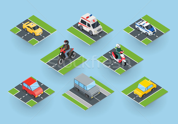 Public Transportation. Traffic Items Collection Stock photo © robuart