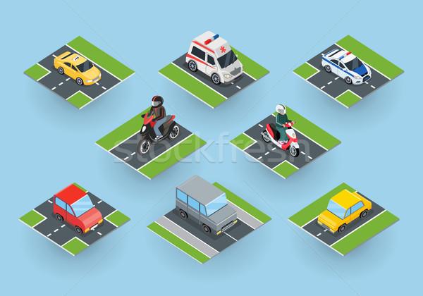 Público transporte tráfico colección carretera coche Foto stock © robuart