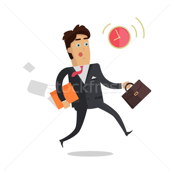 Being Late to Meetings Flat Style Vector Concept Stock photo © robuart