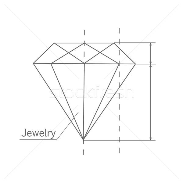 Diament graficzne plan biżuteria Zdjęcia stock © robuart
