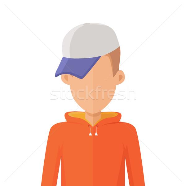 Man Character Avatar Vector in Flat Design. Stock photo © robuart