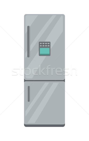 Lodówce elektronicznej urządzenie odizolowany biały gospodarstwo domowe Zdjęcia stock © robuart