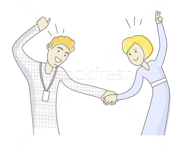 Young Couple Dancing Stock photo © robuart