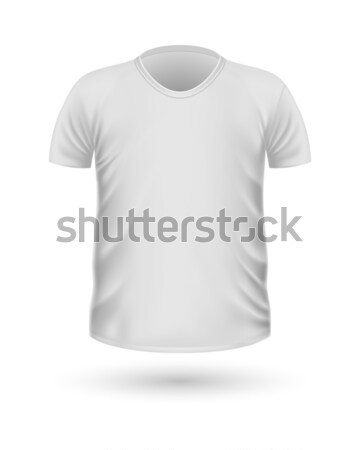 T-shirt Teplate. Front Side View. Vector Stock photo © robuart