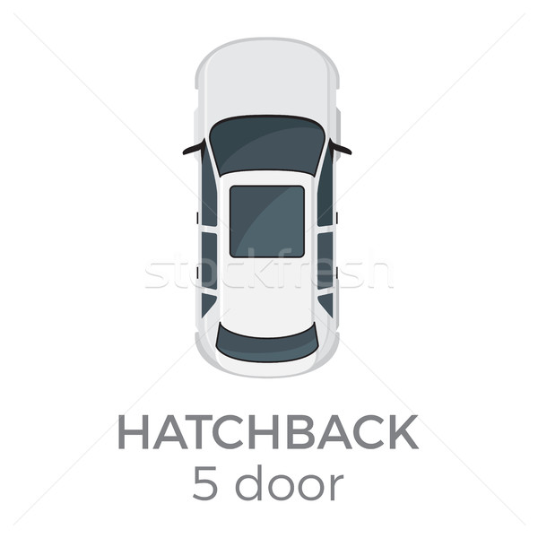 Five Doors Hatchback Top View Flat Vector Icon Stock photo © robuart