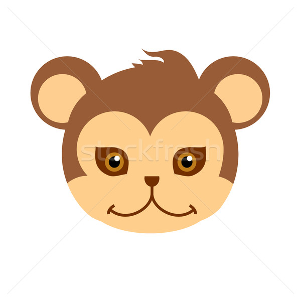 Monkey Carnival Mask. Brown Primate Ape Babbon Stock photo © robuart