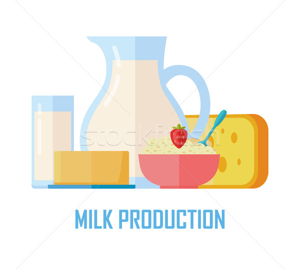 Traditional Dairy Products from Milk Stock photo © robuart