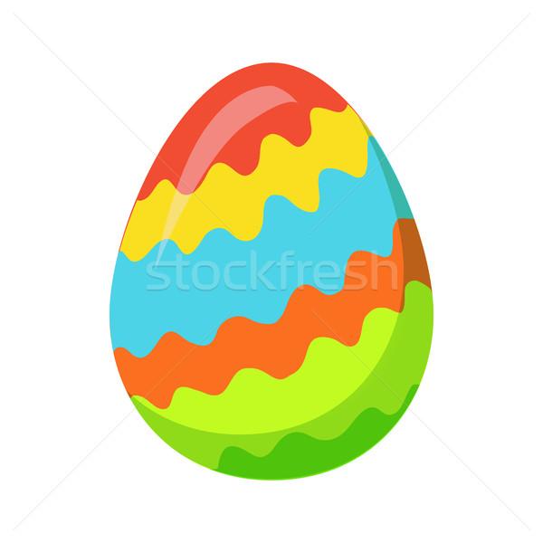 Easter egg zig-zag colorato linee vettore isolato Foto d'archivio © robuart