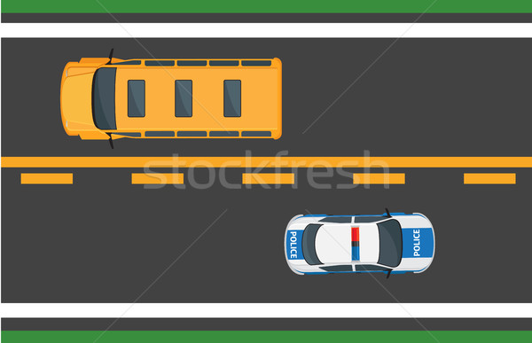Stad verkeer vector auto snelweg actief Stockfoto © robuart