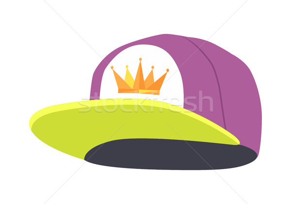 Male Colourful Rap Cap. Isolated Illustration Stock photo © robuart