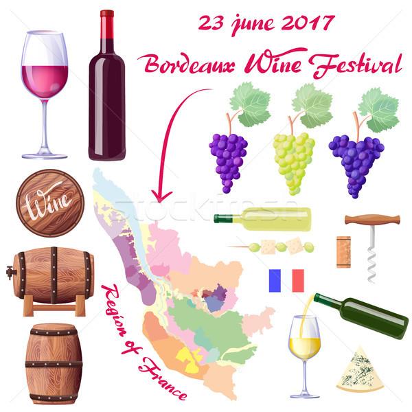 Bordeaux Wine Festival on 23 June 2017 Poster Stock photo © robuart