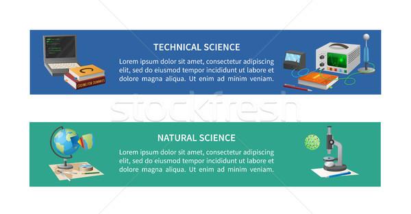 Techniczne naturalnych plakaty tekst kodowanie wyposażenie Zdjęcia stock © robuart