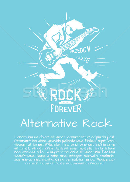 Alternative Rock Music Forever Vector Illustration Stock photo © robuart