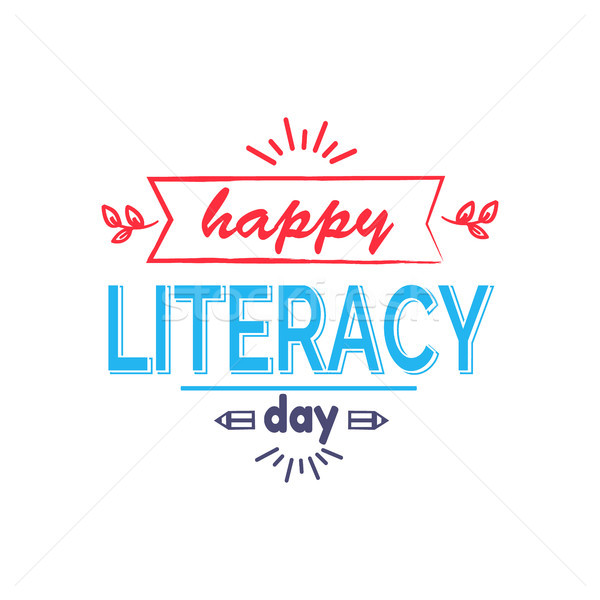 Happy Literacy Day Icon Vector Illustration Stock photo © robuart