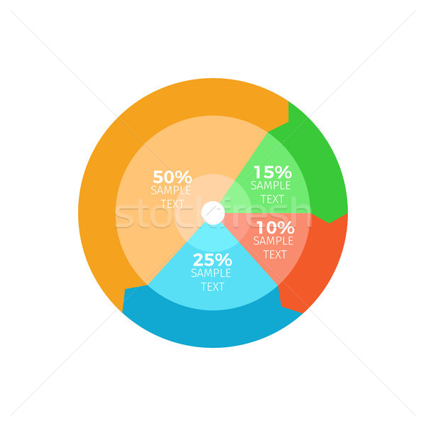 Stock photo: Circled Colorful Infographic Vector Illustration