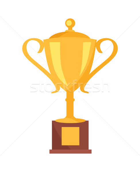 Golden Cup Prize Icon Vector Illustration Stock photo © robuart