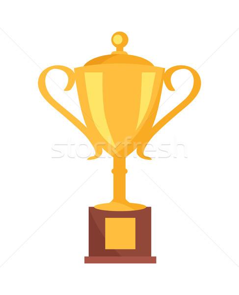 Dorado taza premio icono aislado blanco Foto stock © robuart