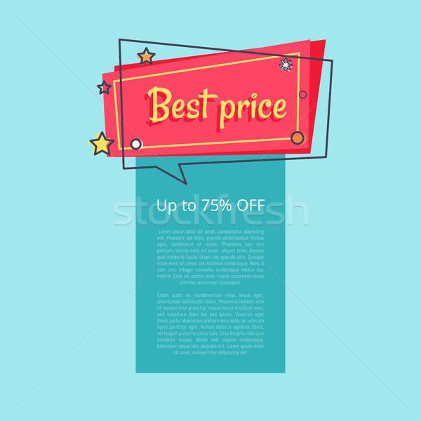 Melhor preço para cima por cento venda Foto stock © robuart