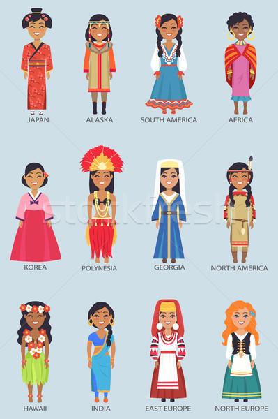 Japão Alasca conjunto mulheres África Foto stock © robuart