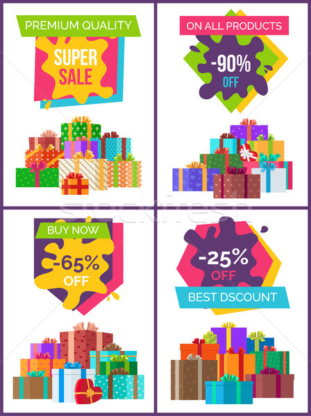 Premium Quality Special Price Offer Set of Posters Stock photo © robuart
