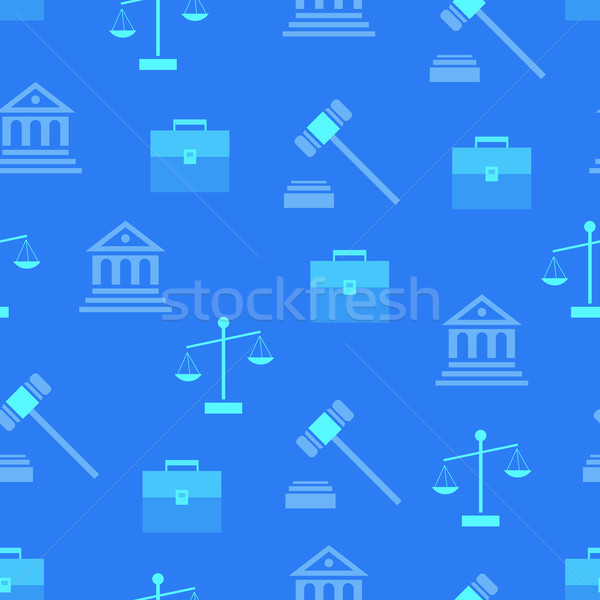 Seamless Pattern with Law Symbols on Background Stock photo © robuart
