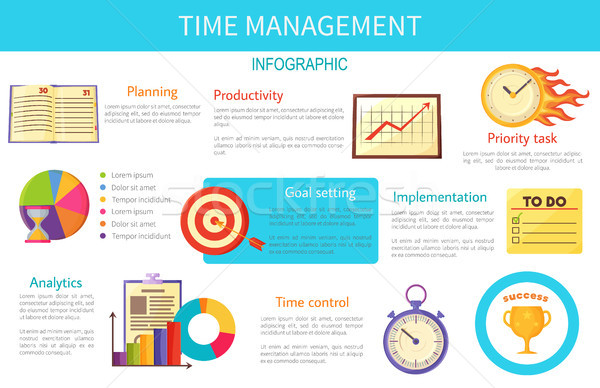 Time Management Bright Inforaphic Internet Poster Stock photo © robuart