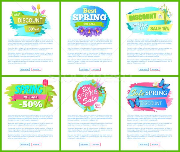 Legjobb választás nagy tavasz vásár címke címke Stock fotó © robuart