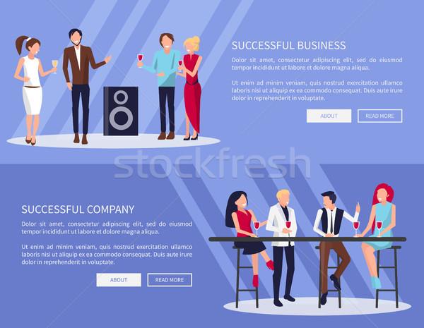 Successful Business Company Vector Illustration Stock photo © robuart