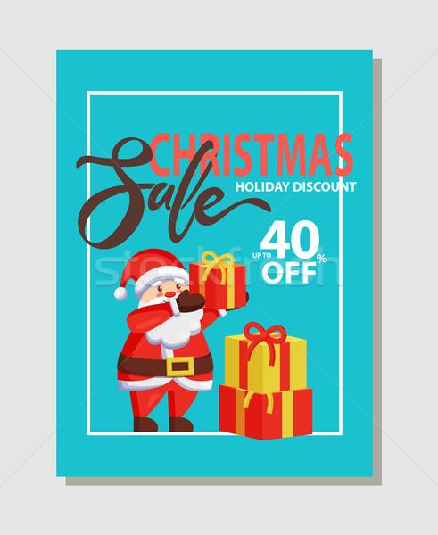 Karácsony vásár ünnep árengedmény 40 el Stock fotó © robuart