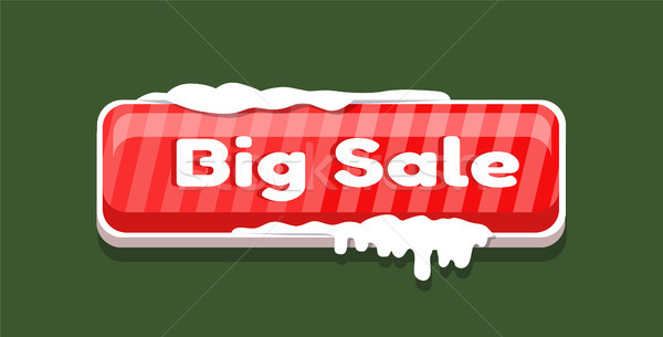 Grande vendita coperto neve shopping online Foto d'archivio © robuart