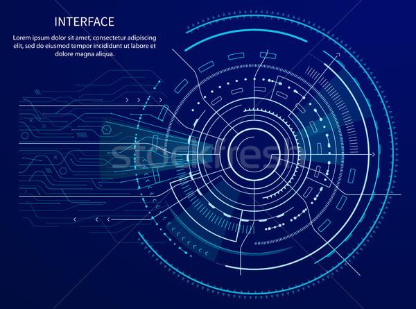 Interface poster tekst monster titel Stockfoto © robuart