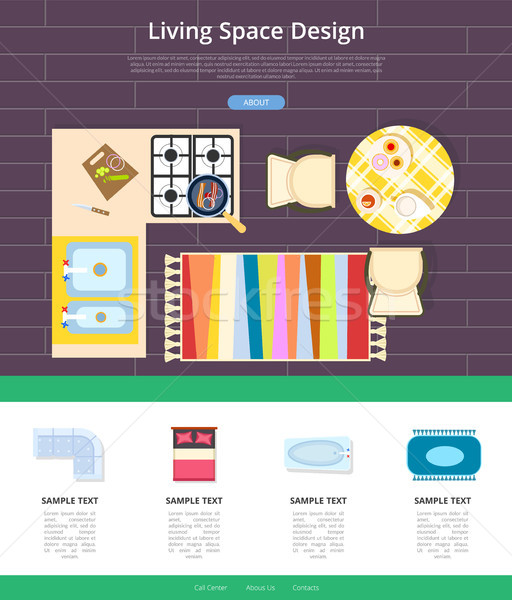 Living Space Design Web Page Vector Illustration Stock photo © robuart