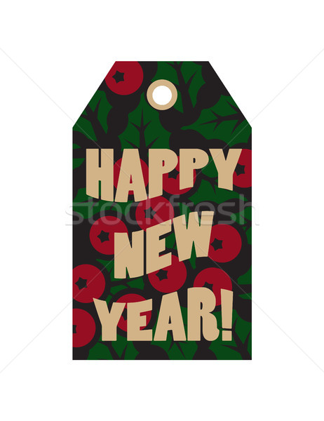 Happy New Year Label with Text Vector Illustration Stock photo © robuart