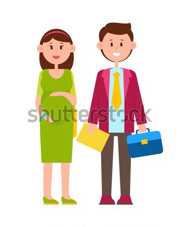 Cheerful Husband with Wife Vector Illustration Stock photo © robuart