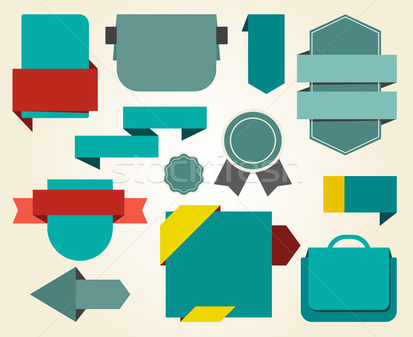 Collection of Blue Stickers on Vector Illustration Stock photo © robuart