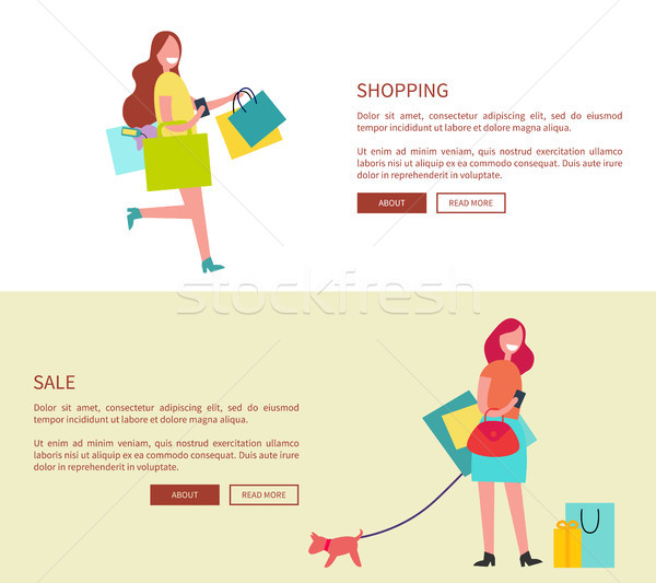 Shopping and Sale Design on Vector Illustration Stock photo © robuart