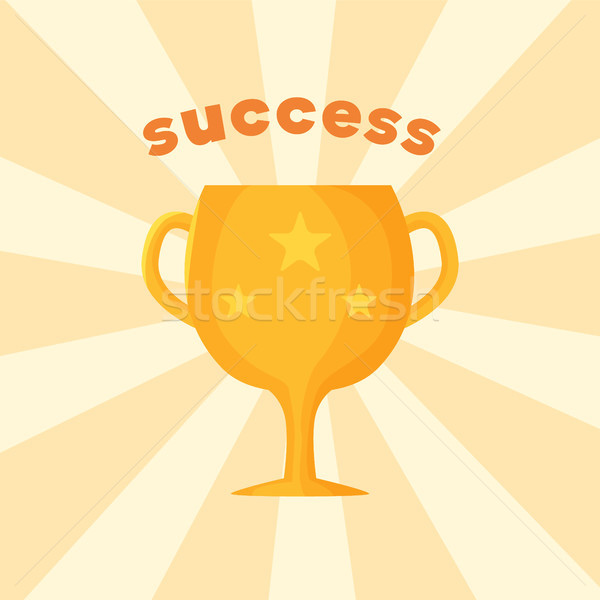Success Template of Prize Vector Illustration Stock photo © robuart