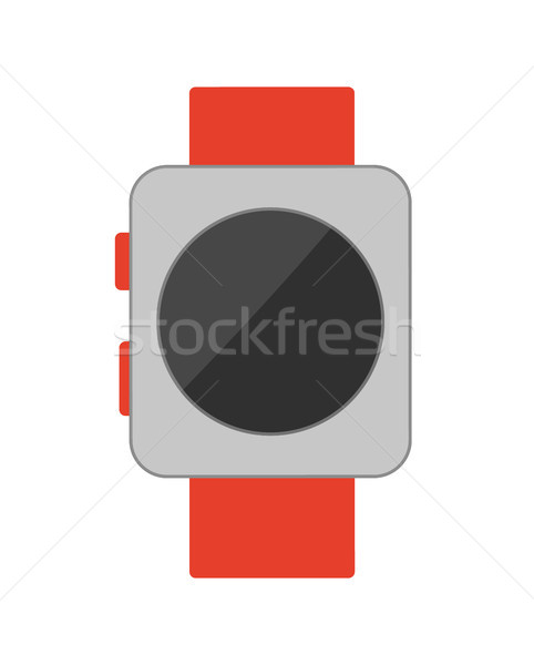 Watch with Buttons Poster Vector Illustration Stock photo © robuart