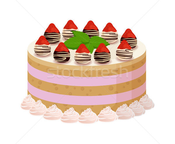 Tasty Cake with Sweet Liquid Glaze Between Corns Stock photo © robuart
