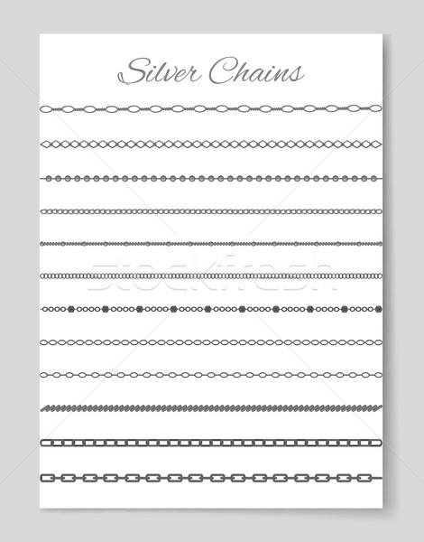 Silver Chains Collection, Vector Illustration Stock photo © robuart