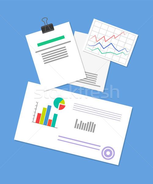 Documento estratégia de negócios ilustração vetor bandeira analítica Foto stock © robuart