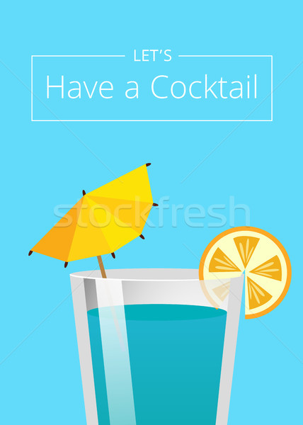 Kokteyl yaz parti promo poster içmek Stok fotoğraf © robuart