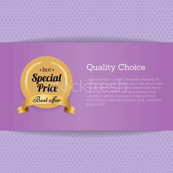 Quality Choice Special Price Best Offer Gold Label Stock photo © robuart