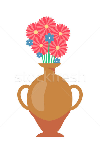 Vase with Flowers Bouquet Vector Illustration Stock photo © robuart